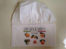 Oh Sole Mio! Chefs Hat Italia Gli Agrumi White Chef Hat W/Citrus Motif Xl