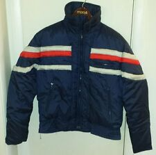 ski wear vintage jcpenney goose down Unisex M red navy blue winter coat jacket