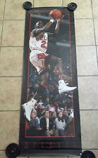 Giant Michael Jordan Slam Dunk Poster Chicago Bulls 90's Basketball 73.5 x26 nba