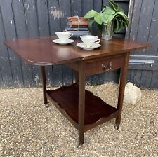 Vintage Mahogany Two Tier Drop Leaf Extending Tea Trolley / Drinks Trolley