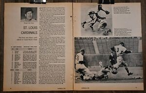 1959 St. Louis Cardinals Baseball Magazine Insert Two Page Print Boyer Musial