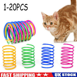 20x Cat Kitten Spring Toy Bouncy Plastic Training Toys Teasing Playing Cat Toy