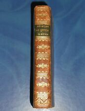 1821 OLD BOOK LIFE & PASSION OF JESUS, DEVOTION TO VIRGIN MARY MYSTERIES LEATHER