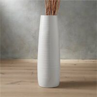 Modern Floor Vase - White, Shiny, and Large - Home Decor - CB2 - New Design