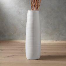 White Floor Vase - Modern Decor - Crate and Barrel