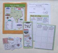 Evan Moor Geography Center Learning Resource Activity Game Parts of a Map
