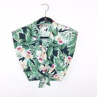 Vintage 1980's Hawaiian Tie Front Crop Top Womens Size Small