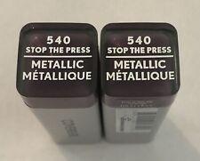 (2) Covergirl Exhibitionist Metallic Lipstick, 540 Stop The Press
