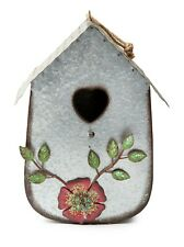 Metal Birdhouse with Heart shaped opening