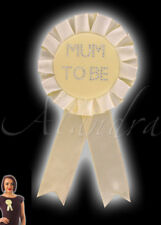 Baby Shower Boy Girl Yellow Mum to Be Rosette Diamante Badge Gift Accessory