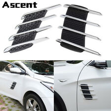 Car Side Air Flow Vent Fender Cover Intake Grille Chrome Silver Exterior Decor