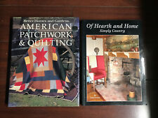 Of Hearth and Home Simply Country & American Patchwork & Quilting Books Antique