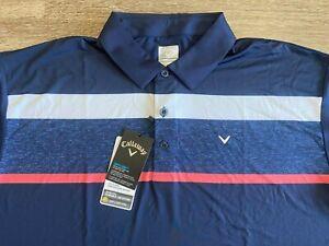 NWT Callaway Golf Opti -Dri Performance Polo Shirt Large L ~ Nice!!