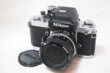 """NEAR MINT"" Nikon F2 Photomic A SLR Film Camera With """"Ai Nikkor 35mm 1:2"""" Lens"