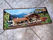 New boxed Faller HO scale gauge building B-108 Railway Station Fleischmann 1:87