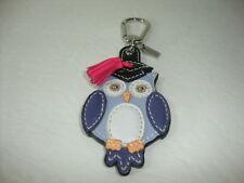 Coach Leather Owl Key Fob 92918