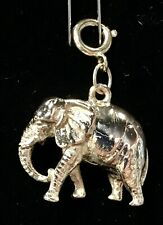 14K Yellow Gold solid 3D Real Looking Elephant Pendant/Charm 10g