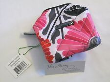 Vera Bradley CHEERY BLOSSOMS Small PUFFY Cosmetic Case BRUSH Bag MAKEUP      NWT