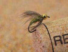 12 Flies Beadhead Caddis Pupa Fishing Flies - Mustad Signature Fly Hooks