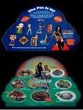 Vtg 2004 Hooters Laminate Menu Bikini Contest Sexy Girl Pins & Food Double Sided