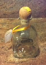Patron Anejo Tequila 375 ml with tag & box ~ Empty Bottle