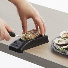 CLIC'huitres French Oyster Holder for Shucking Makes shucking safer & easier