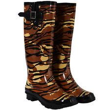 Women's Synthetic Slip on Wellington Boots