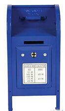 """Blue Metal Mailbox Coin Bank 7.5"""" - Play Kreative TM"""