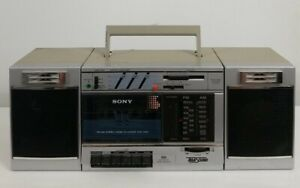 Sony CFS-3000 Stereo Boombox 1980s Tape, Cassette, AM/FM Radio: Tested Works