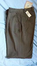 Tommy Bahama Full Signature Silk Panama Pants Relax Fit Pleated Dark Olive 33x29
