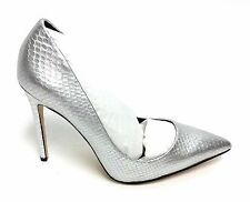 Daya Zendaya Womens Atmore Dress Pump Silver Synthetic Embossed Print Size 8 M