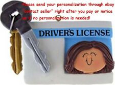 16TH BIRTHDAY GIRL CAR DRIVER'S LICENSE PERSONALIZED CHRISTMAS TREE ORNAMENT