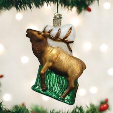 Elk Glass Ornament