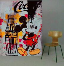 Motiv Mickey Art Triubt 150x120 cm Silbergebürstet PopArt/Malerei/Bild/StreetArt