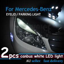 2x White Canbus Eyelid Eyebrow 8LED Light For Mercedes-Benz C63 AMG CLK 320/350