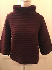 Maglione bordeaux PLEASE burgundy sweater jumper Taglia Unica One Size