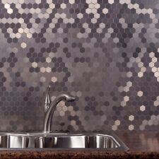 Peel And Stick Tile Self Adhesive Silver Metal Stainless Wall Kitchen Backsplash