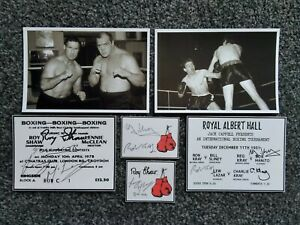 ROY SHAW LENNY MCLEAN AND THE KRAYS BOXING PHOTO DISPLAY MEMORABILIA