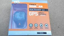Timex Ironman run trainer 2.0 GPS Elite speed, distance & heart rate New!!