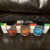 Tricolor Set of 6 (2.75 oz.) Multicolor Shot Glasses