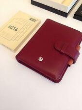 MONTBLANC *Boheme* A7 Leder Agenda Timer Organizer Rot red + Kalender 2016 -668