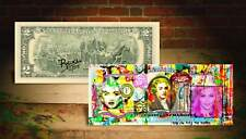MADONNA WORLD Rency / Banksy Warhol Pop Art on Real $2 Bill Artist Signed #/215