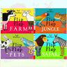 Flip Flap Series 4 Books Collection Set By Axel Scheffler Farm,Jungle,Safari New