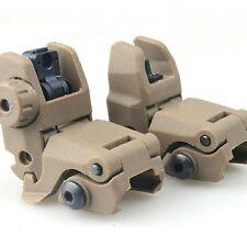 Tactical Tan Polymer Flip-Up Front & Rear Sights Quick Ship** U.S. Seller* AR