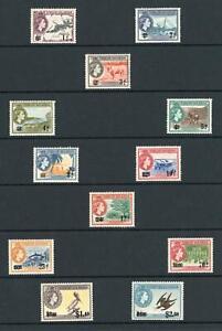 British Virgin Islands QEII 1962 Set of 12 MNH SG 162/173 Cat £25