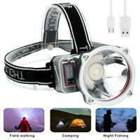 LED USB Rechargeable Headlamp Super Bright Flashlight Headlight Spotlight L6A1
