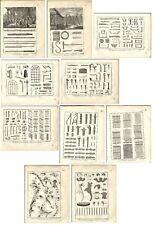Stampa antica FABBRO OFFICINA 10 TAV. Encyclopedie Diderot 1785 Antique print