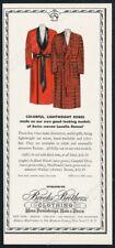 1956 Brooks Brothers Clan Wallace tartan & red robe art vintage print ad