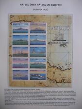 Irrtümer auf Briefmarken / Burkina Faso 1999 Mi 1641 - 1650 : Kriegsschiffe