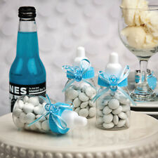 Perfectly Plain Collection Blue Baby Bottle Favours